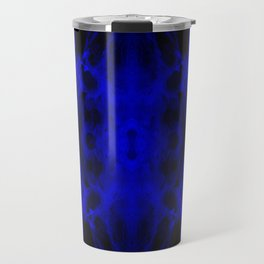 Abstract, Blue, Black (CA17020CM) Travel Mug