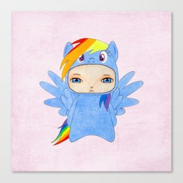 A Boy - Rainbow Dash Canvas Print