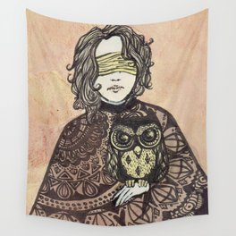 The Seer and the Owl Wall Tapestry
