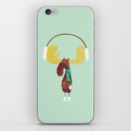 This moose is ready for winter iPhone Skin