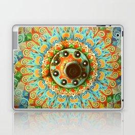 Rainbow Painted Cart Wheel Mandala Laptop & iPad Skin