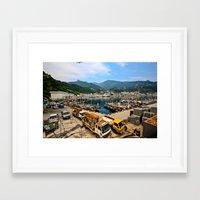 korean Framed Art Prints featuring Korean Seaport  by Wandering Lyzka