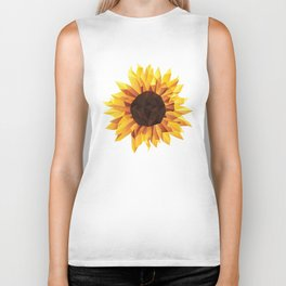 Polygonal Sunflower Biker Tank