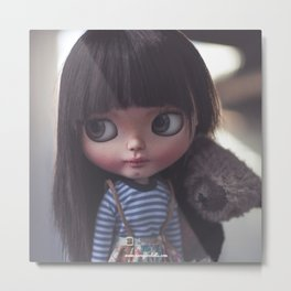 AYA AND TEDDY BY ERREGIRO Metal Print