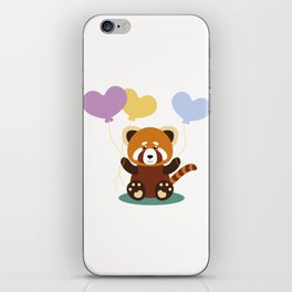 Lovely Red Panda iPhone Skin