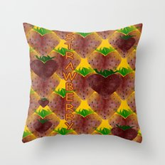 S Is For Strawberry Throw Pillow