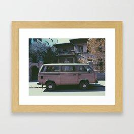 Van in spring Framed Art Print