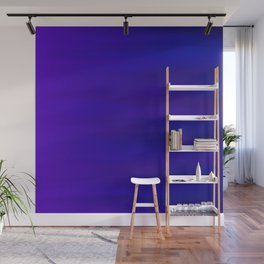 Ultra Violet to Indigo Blue Ombre Wall Mural
