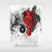 cardinal Shower Curtains featuring Cardinal. by SynthiaManson