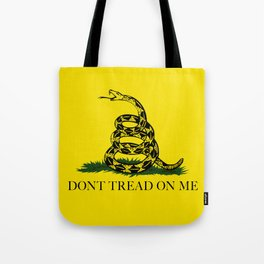 Don't Tread On Me Gadsden Flag Tote Bag