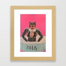 Milk Bath Framed Art Print