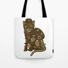 Steampunk Kitty Tote Bag