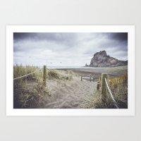 Piha Beach Art Print
