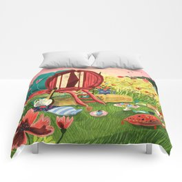 Gypsy Caravan at Sunset Comforters