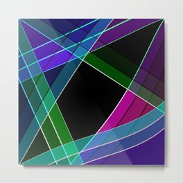 Multicolored silk 3 Metal Print