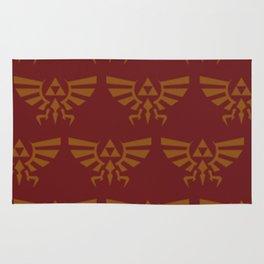 Zelda Pattern Red Rug