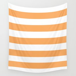 Rajah - solid color - white stripes pattern Wall Tapestry