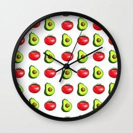Guacamole Salad Wall Clock