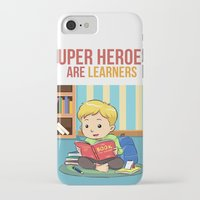 super heroes iPhone & iPod Cases featuring Super Heroes Are Learners by youngmindz