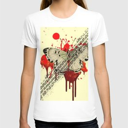 SURREAL BLEEDING VAMPIRE BUTTERFLY ROADKILL T-shirt