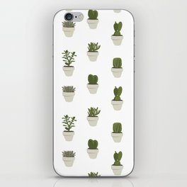 Cacti & Succulents - White iPhone Skin