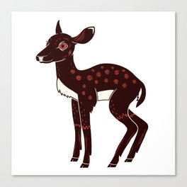 a Deer a Doe Canvas Print