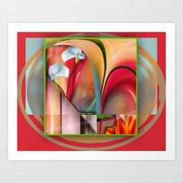 Lily Lounge Art Print