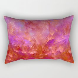 """Abstract Volcano Red Fire"" Rectangular Pillow"