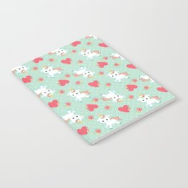 Baby Unicorn with Hearts Notebook