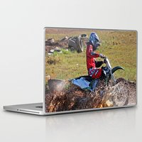 moto Laptop & iPad Skins featuring Moto Cross by Lone Wolf Photography