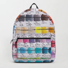 Artist Colour Palette Swatch Test Backpack