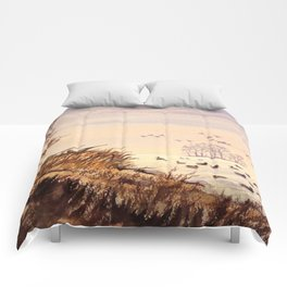 Duck Hunting Times Comforters
