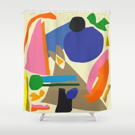 Abstract morning Shower Curtain
