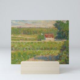 """Georges Seurat """"La Maison au toit rouge"""" Mini Art Print"""