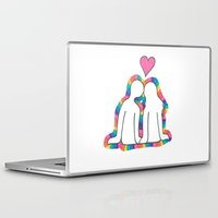 valentines Laptop & iPad Skins featuring Valentines Day! by Emma's Designs