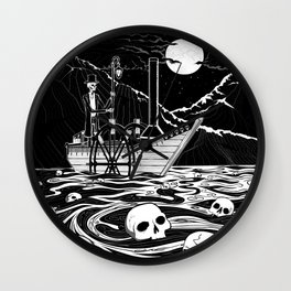 Steamboat across the Styx Wall Clock