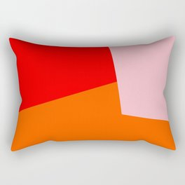red orange pink Rectangular Pillow