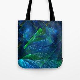 Sea Glass 3D Flame Fractal Tote Bag