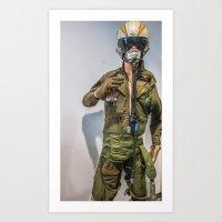 pilot Art Prints featuring Pilot by sannngat