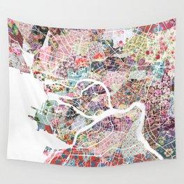 Saint Petersburg map Wall Tapestry