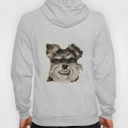 SCHNAUZER PORTRAIT. IMAGE IS MADE ENTIRELY OF DOTS. Hoody