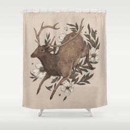 Floral Elk Shower Curtain