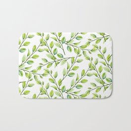 Branches and Leaves Bath Mat
