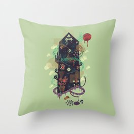 The Ominous and Ghastly Mont Noir Throw Pillow