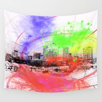 skyline Wall Tapestries featuring Skyline by Fine2art