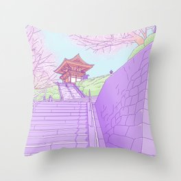 Everyday places in Japan Throw Pillow
