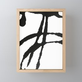 0523: a simple, bold, abstract piece in black and white by Alyssa Hamilton Art Framed Mini Art Print