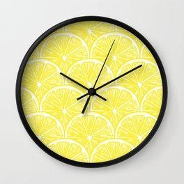 Lemon slices pattern design II Wall Clock