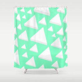 White Triangles Shower Curtain