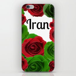 Iran Red and Green Roses iPhone Skin